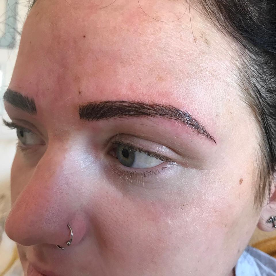 Bella Derma patient after Microblading